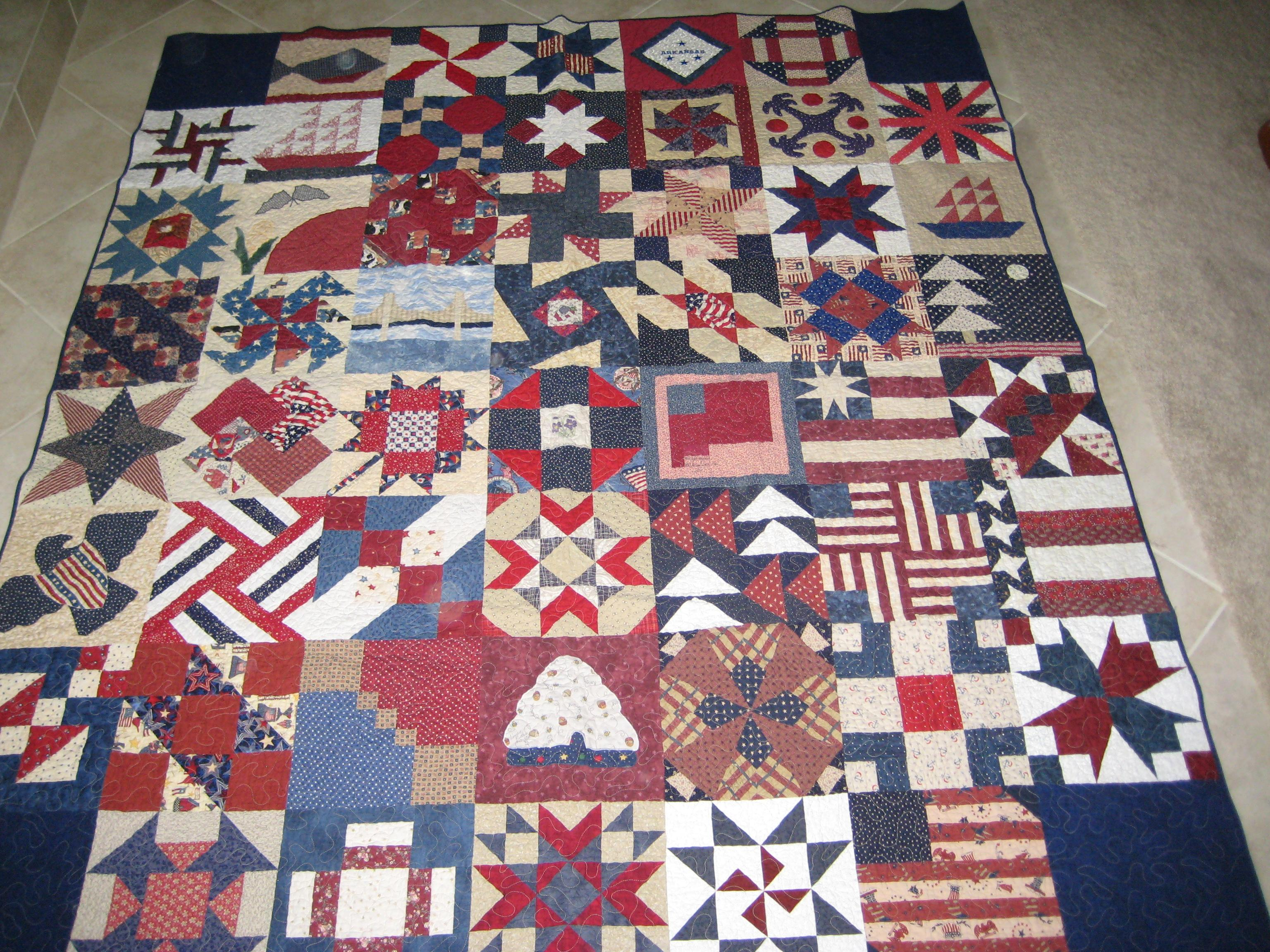 Nifty Fifty Quilters Of America Tenth 50 State Quilt Block