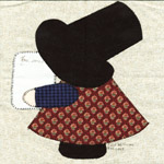 illinois sunbonnet sue quilt block