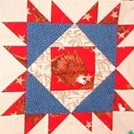 illinois quilt block with american eagle