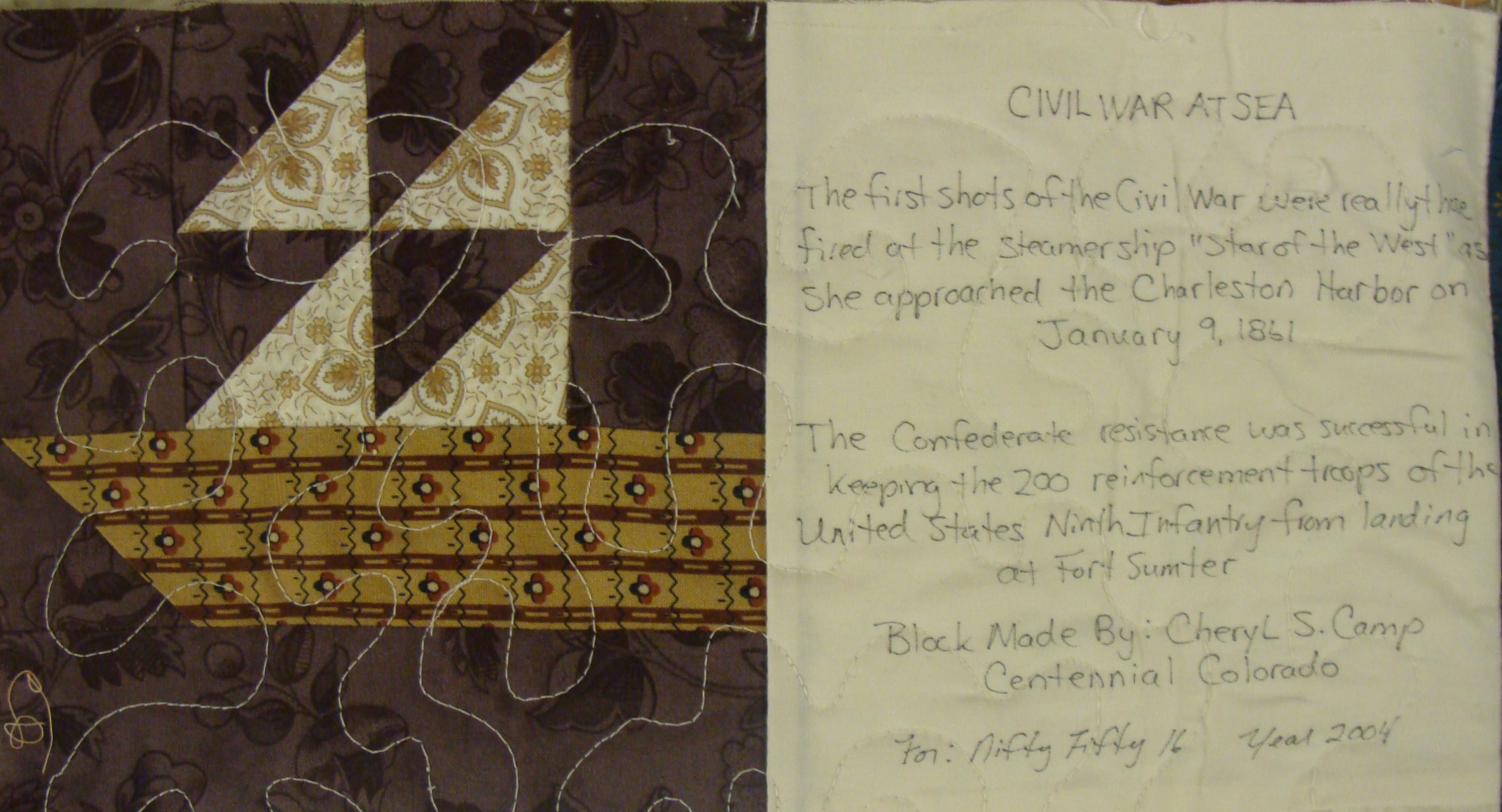 Nifty Fifty Quilters Of America Civil War Quilt Blocks