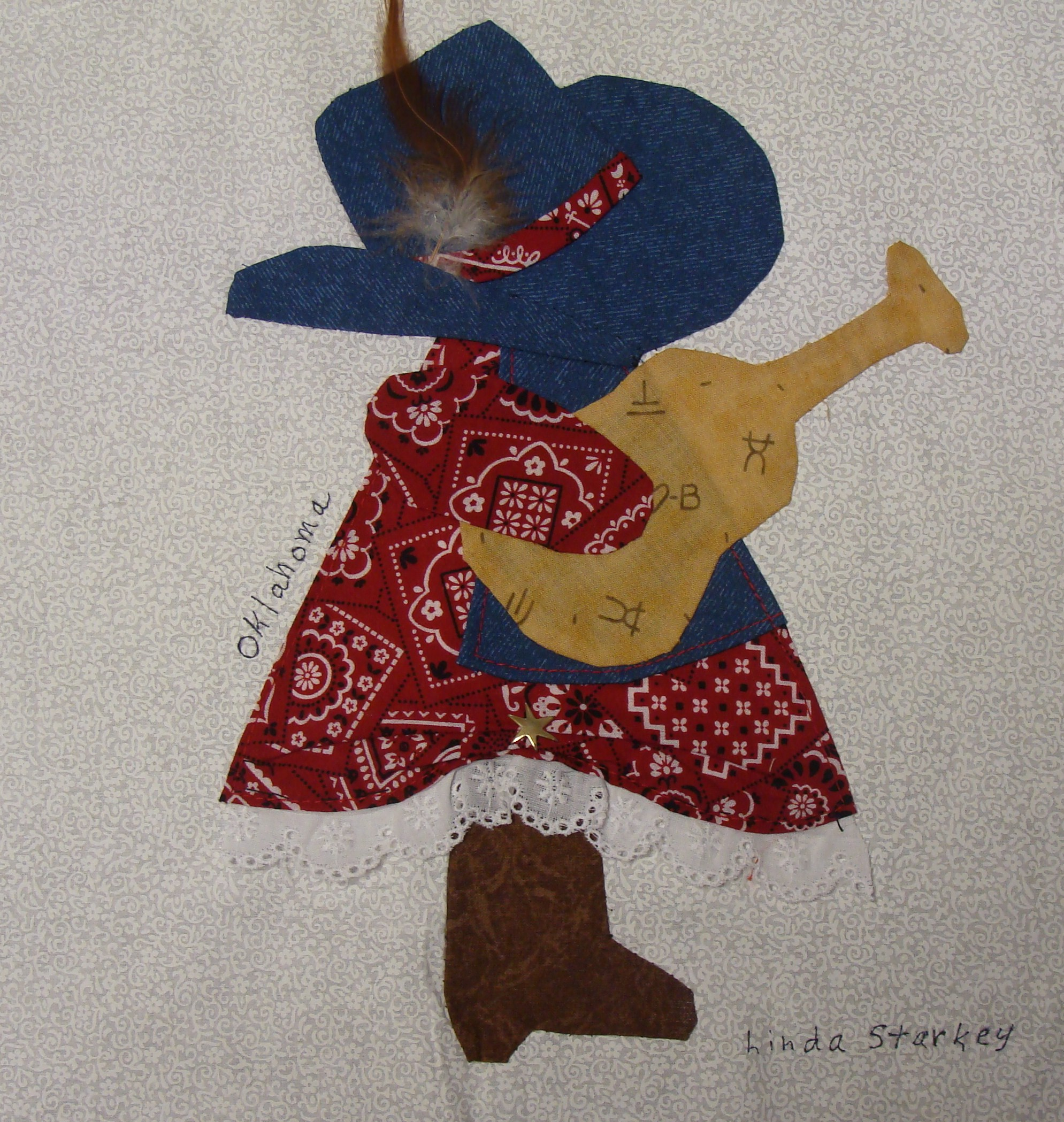 Nifty Fifty Quilters of America Sunbonnet Sue 50 State Quilt Block ... : sunbonnet sue quilt blocks - Adamdwight.com