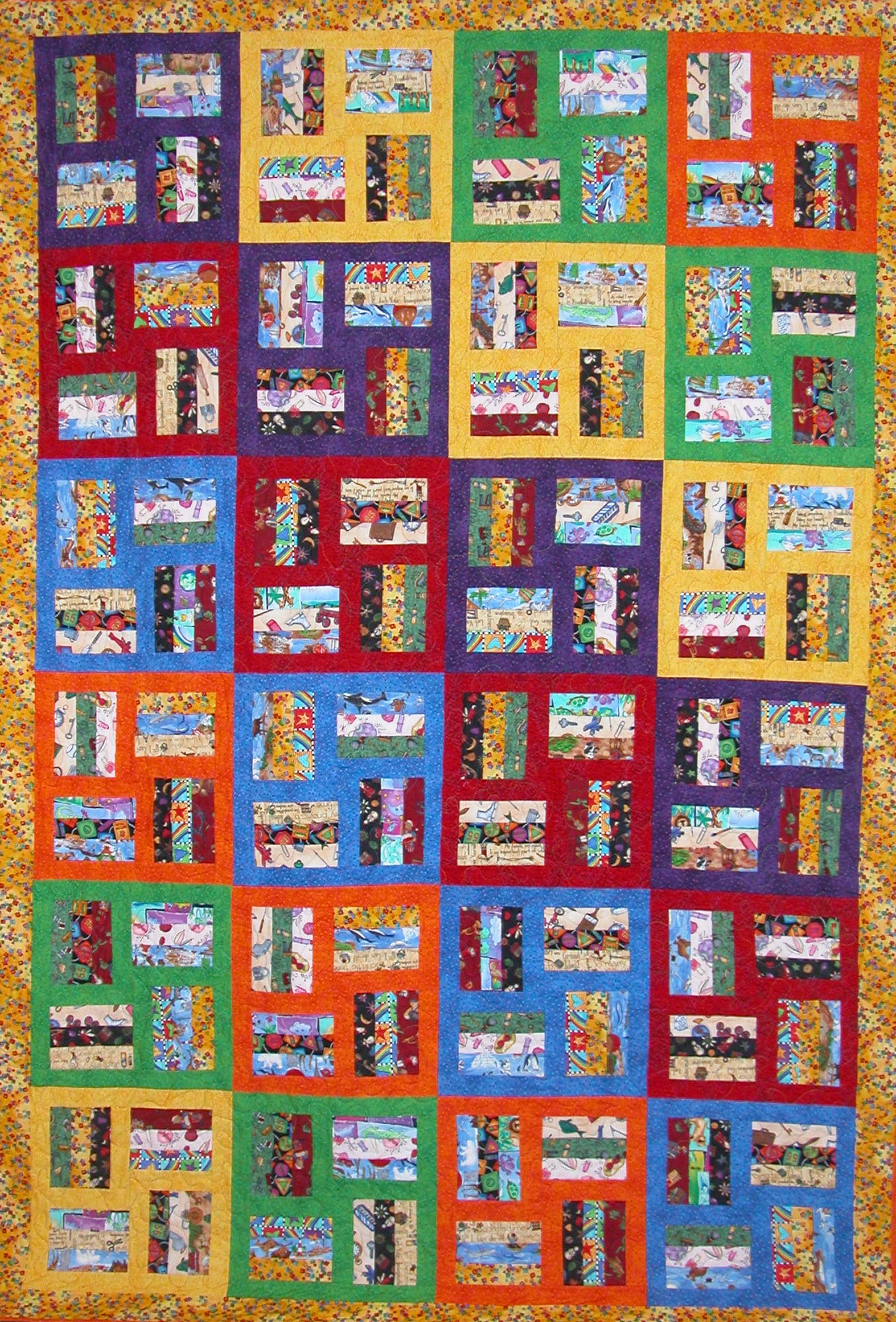 Nifty fifty quilters of america quilt patterns by precious for Novelty children s fabric