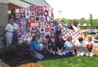 nifty fifty quilters breast cancer charity quilt