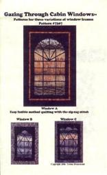 cabin window quilt wall hanging pattern