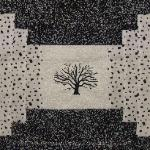 conneticut quilt block with charter oak tree