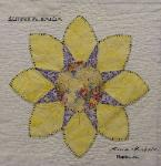 florida flower quilt block