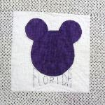 florida mickey mouse quilt block