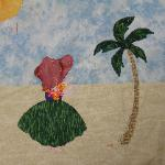 hawaii sunbonnet sue quilt block