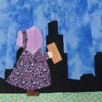 illinois sunbonnet sue quilt block visiting chicago illinois