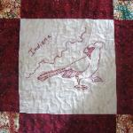 indiana state bird quilt block