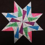 indiana quilt block in carol doak's star pattern