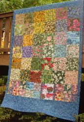 50 state flower fabric quilt