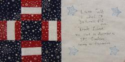 rhode island september 11, 2001 quilt block